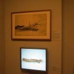 museumsblog: Interventionen in der Gurlitt-Ausstellung, oben Gurlitt, unten L. Markusen